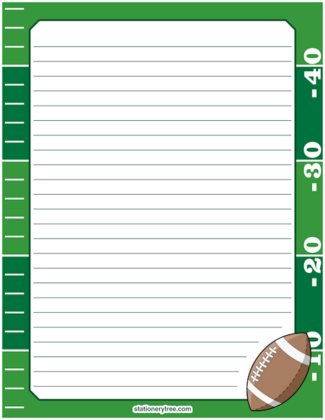 graphic relating to Free Printable Stationery Template named Soccer Stationery and Composing Paper Instruction Suggestions