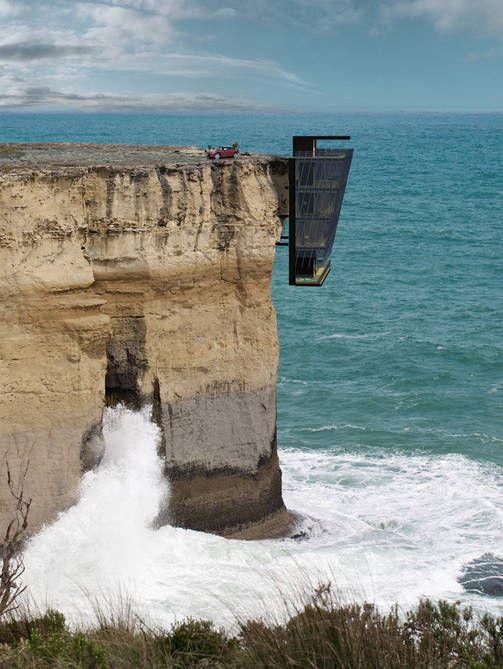 Huh! Pystyisitkö asumaan kallionkielekkeeseen rakennetussa talossa?