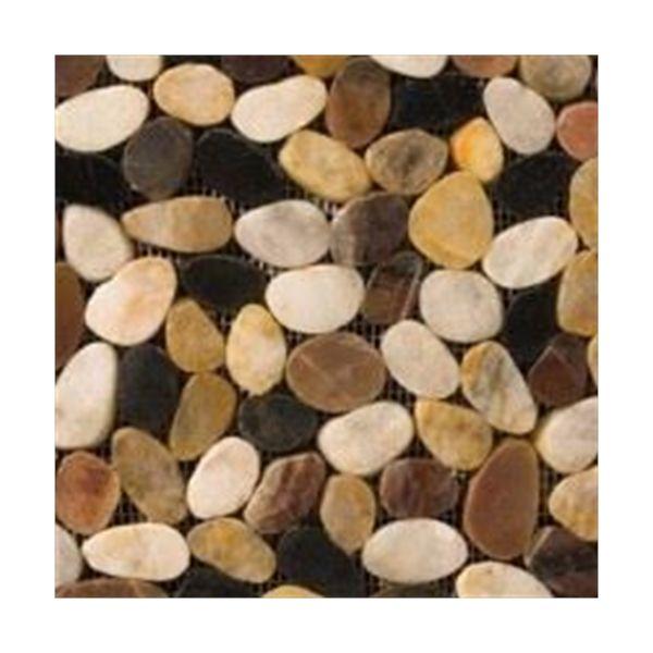Tile Rivera Flat Pebbles 4 Color Blend Mosaic 12x12 Pebbles Stone Mosaic Tile Mosaic Stone Mosaic
