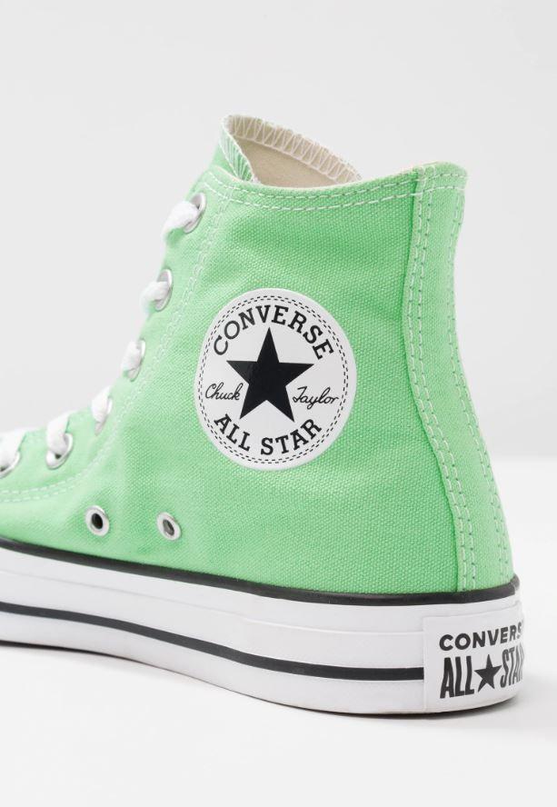 chaussure converse femme verte