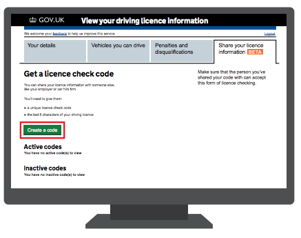 How To Share Your Driving Licence Information Driving License