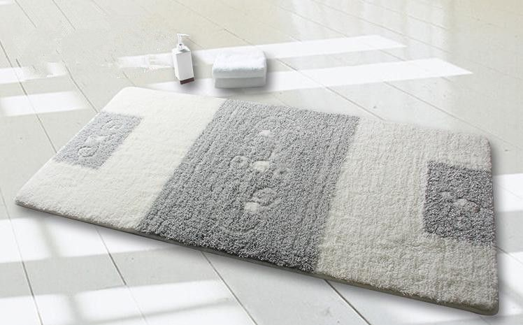Elegant Highquality Polyester Door Mat Bathroom Rug