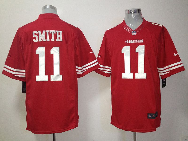 49ers 11 smith red nike nfl limited jersey id99761100