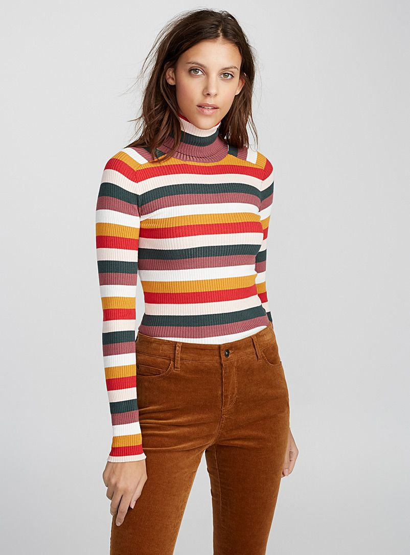 d62a675cdac Stretch ribbed turtleneck sweater