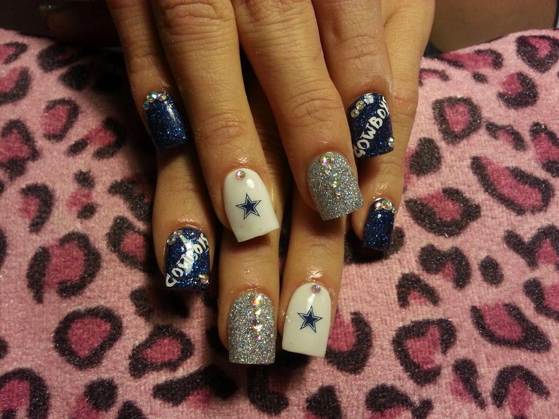 Dallas Cowboy nails part 2 | Nails | Pinterest | Dallas cowboys ...
