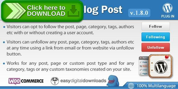 Free nulled Follow My Blog Post - WordPress Plugin download - running log template