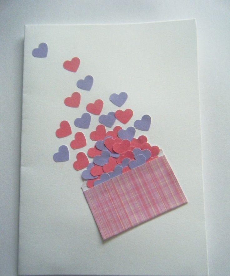 Сердце ладонях, как сделать открытку для мамы на день валентина от дочки