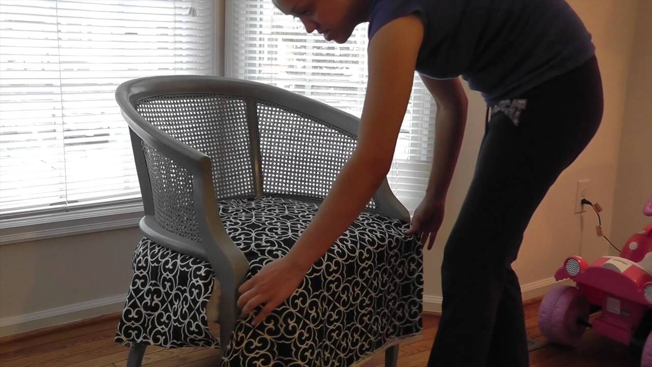 DIY: How To Refinish U0026 Reupholster A Chair  Cane Chair Pt. 2