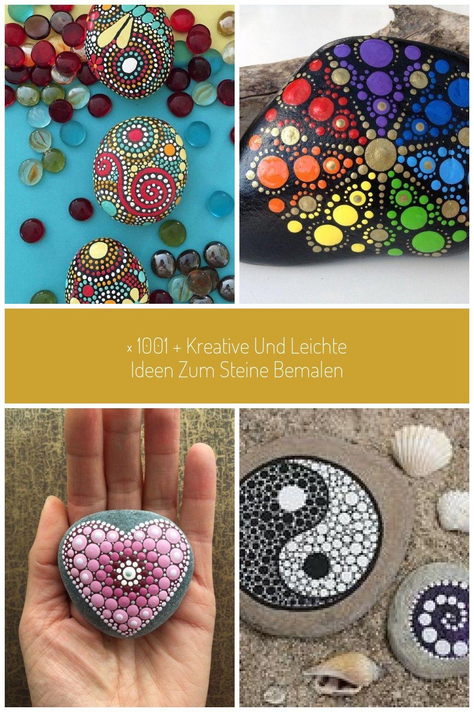 mandala-malen-auf-kleine-steine-bunte-punkte-setzen-diy.anleitung #mandala stein ▷ 1001 + kreative und leichte Ideen zum Steine bemalen #steinebemalenanleitung