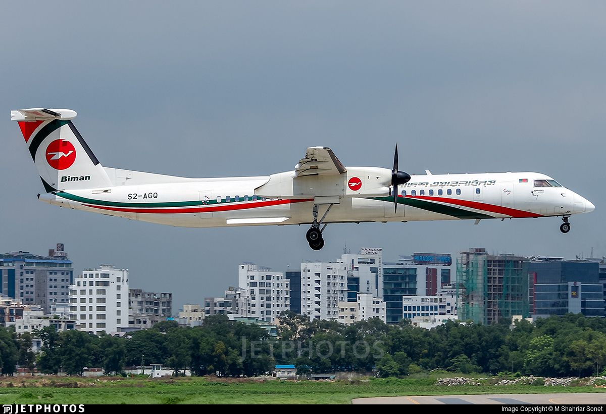 Bombardier Dash 8 Q400 Operators Airline Biman Bangladesh Airlines Registration S2 Agq Location Dhaka Hazrat Shahjalal International Aviation Dhc Airlines