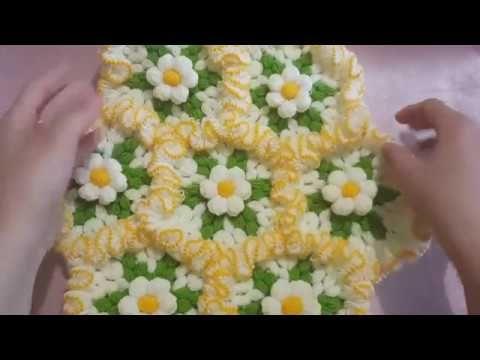 Fırfırlı Çiçek Bahçesi Lif Modeli Yapılışı Videolu Anlatımlı