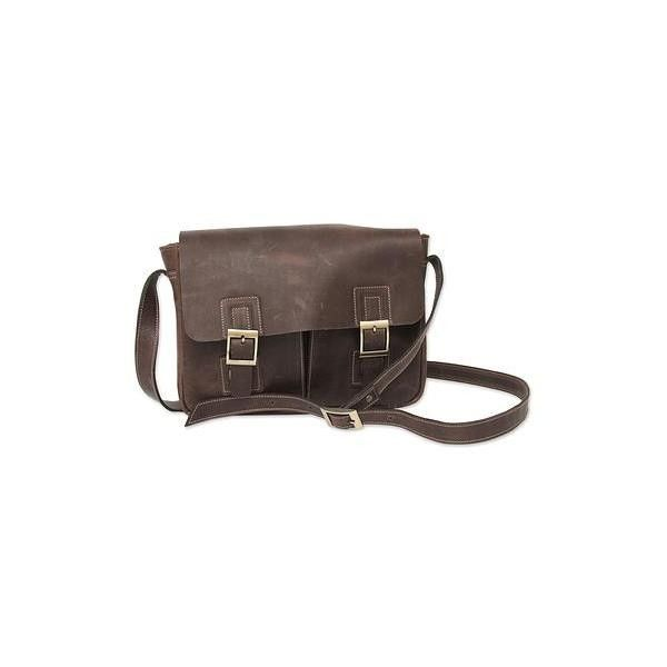 NOVICA Dark Brown Leather Messenger Bag with Multi Pockets (€145) ❤ liked on Polyvore featuring bags, messenger bags, accessories, brown, clothing & accessories, handbags, brown leather messenger bag, courier bags, genuine leather bags and brown messenger bag