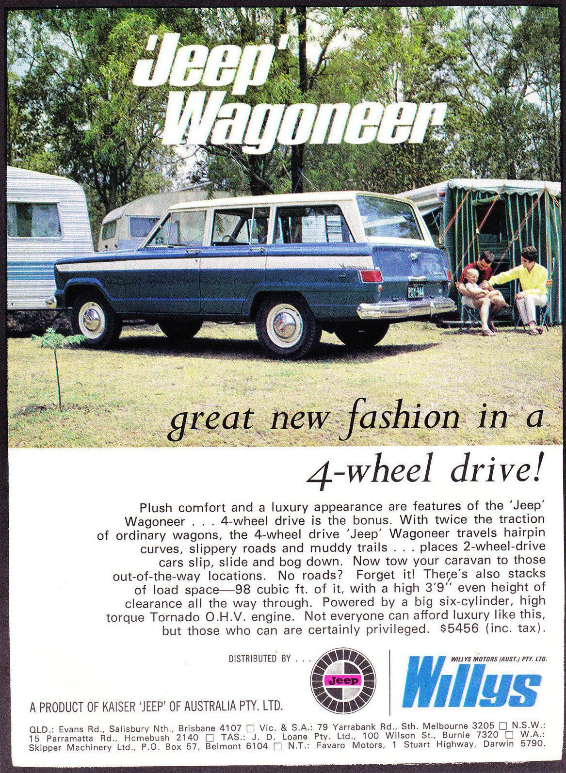 Jeep Wagoneer Datsun 2000 2 Pages 1969 Original A4 Magazine Advert ...