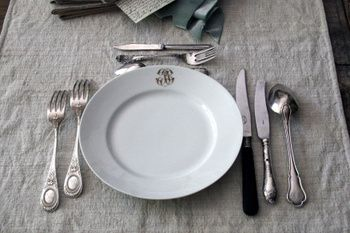 French Silverware & French Silverware | French table Table settings and French style