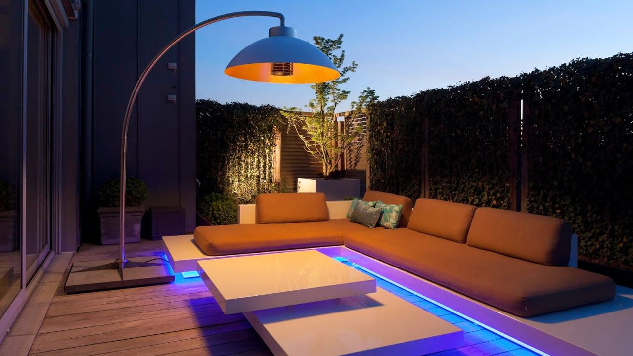 Be inspired! Dome Bow modern electric patio heater & floor