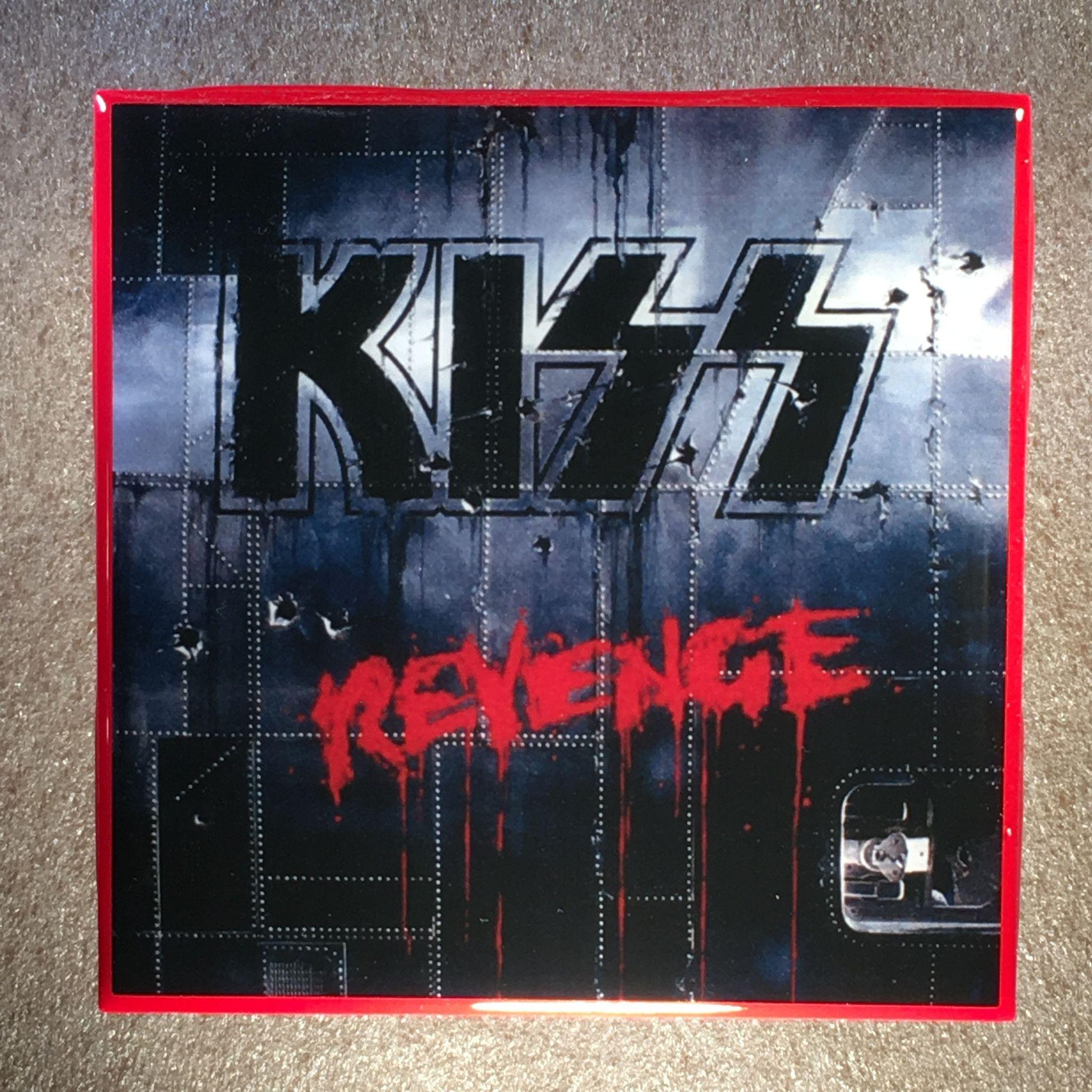 Kiss Revenge Coaster Custom Ceramic Tile Kiss Album Covers