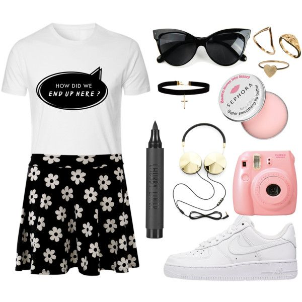 How Did We End Up Here by sam-isabella on Polyvore featuring NIKE, ASOS, Monki, Topshop, Sephora Collection and Frends