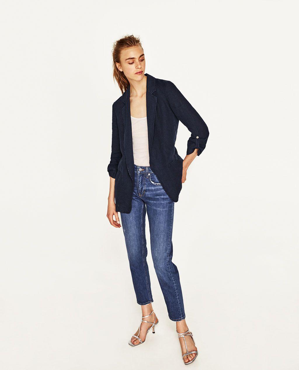 Image 1 Of Linen Blazer From Zara Linen Blazer Fashion Clothes