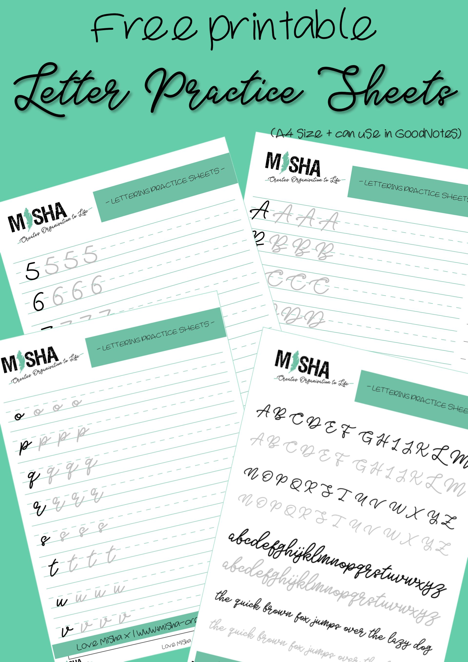 Practice your cursive handwriting with these free practice