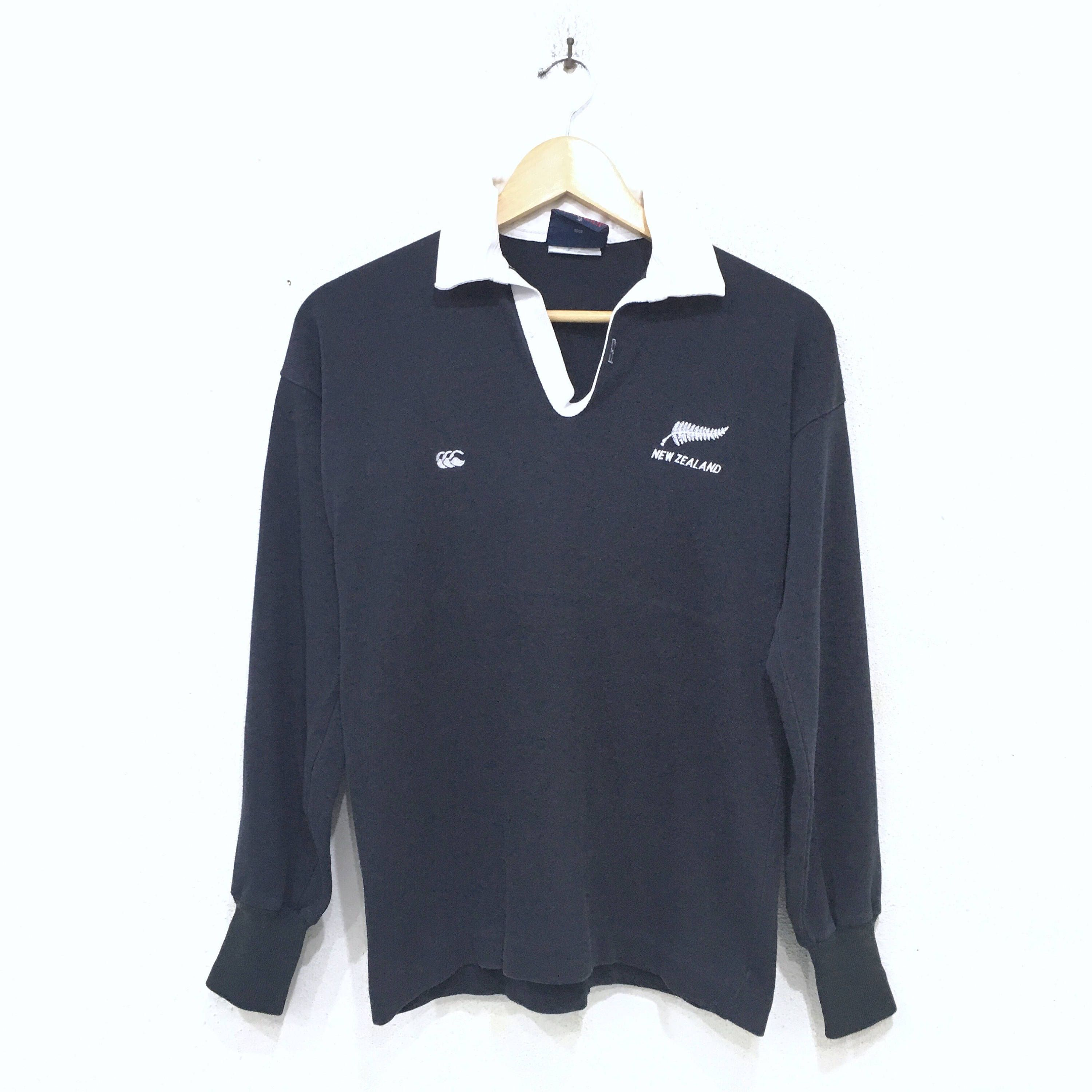 Sale!! Canterbury Of New Zealand Polo Sweatshirt Rugby Large Size BTKRUEko