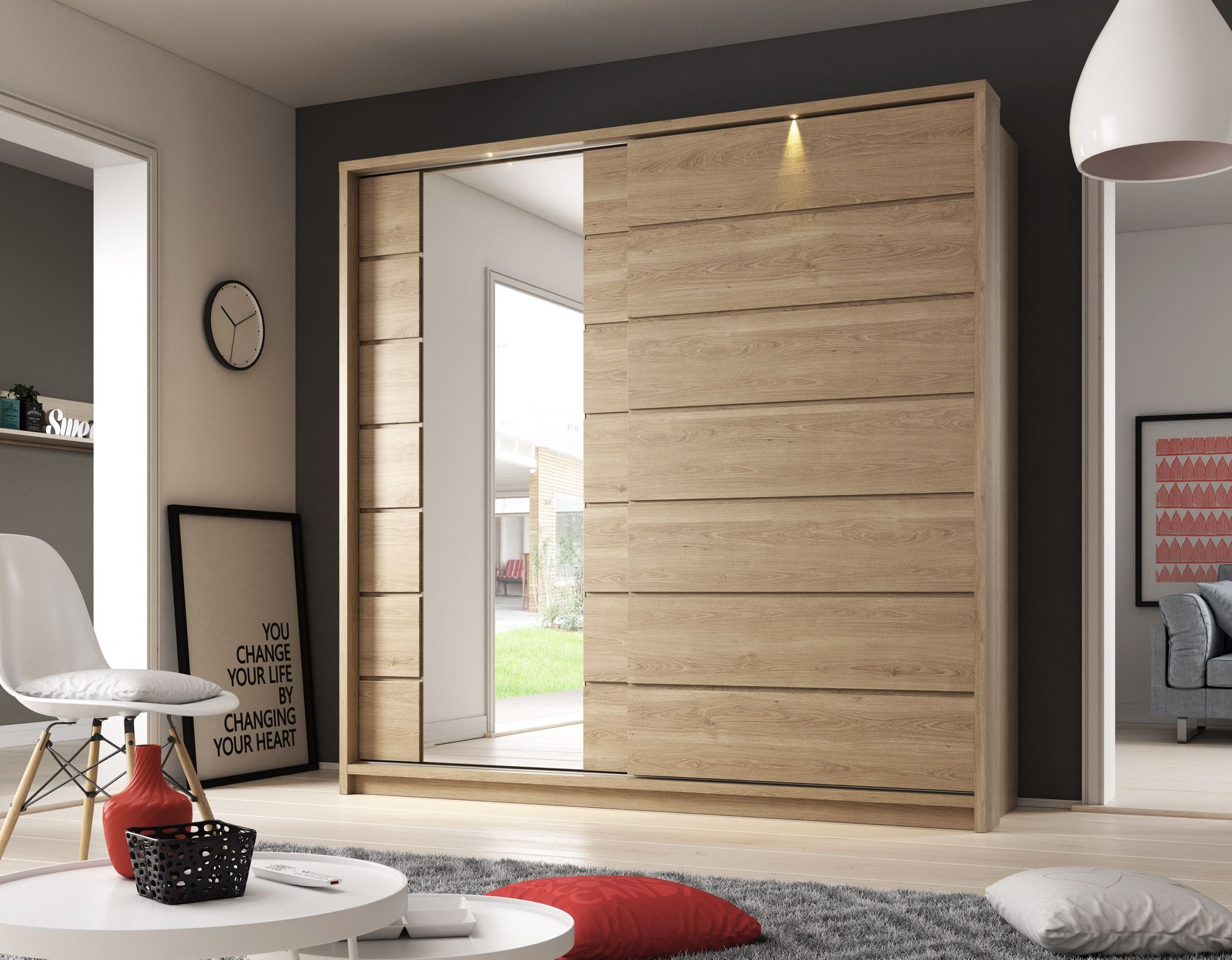 Arti 15 Oak Shetland 2 Sliding Door Wardrobe 220cm In 2018