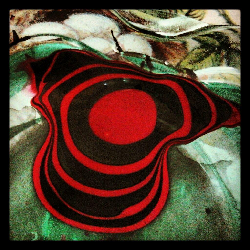 Red and black nail polish