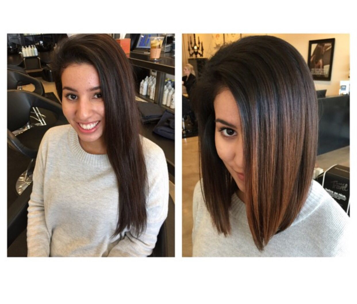 lob haircut before and after ombre lob before and after carmel hair bayalage hair
