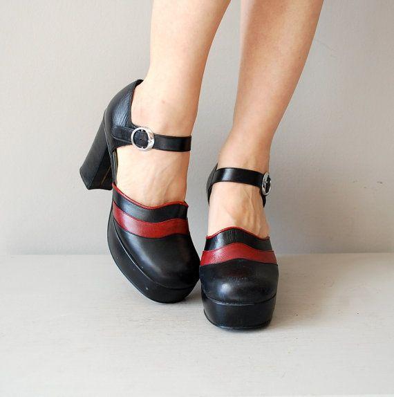 vintage Harakumi platforms #vintageshoes #platforms