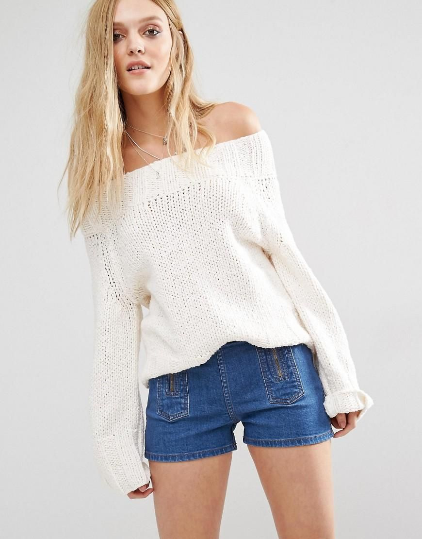 d941e2d7537 Free People | Free People Beachy Off Shoulder Sweater at ASOS ...