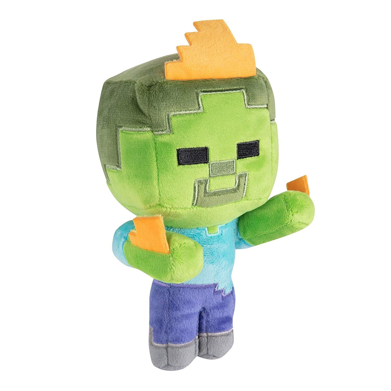 Minecraft Happy Explorer Zombie On Fire Plush Walmart