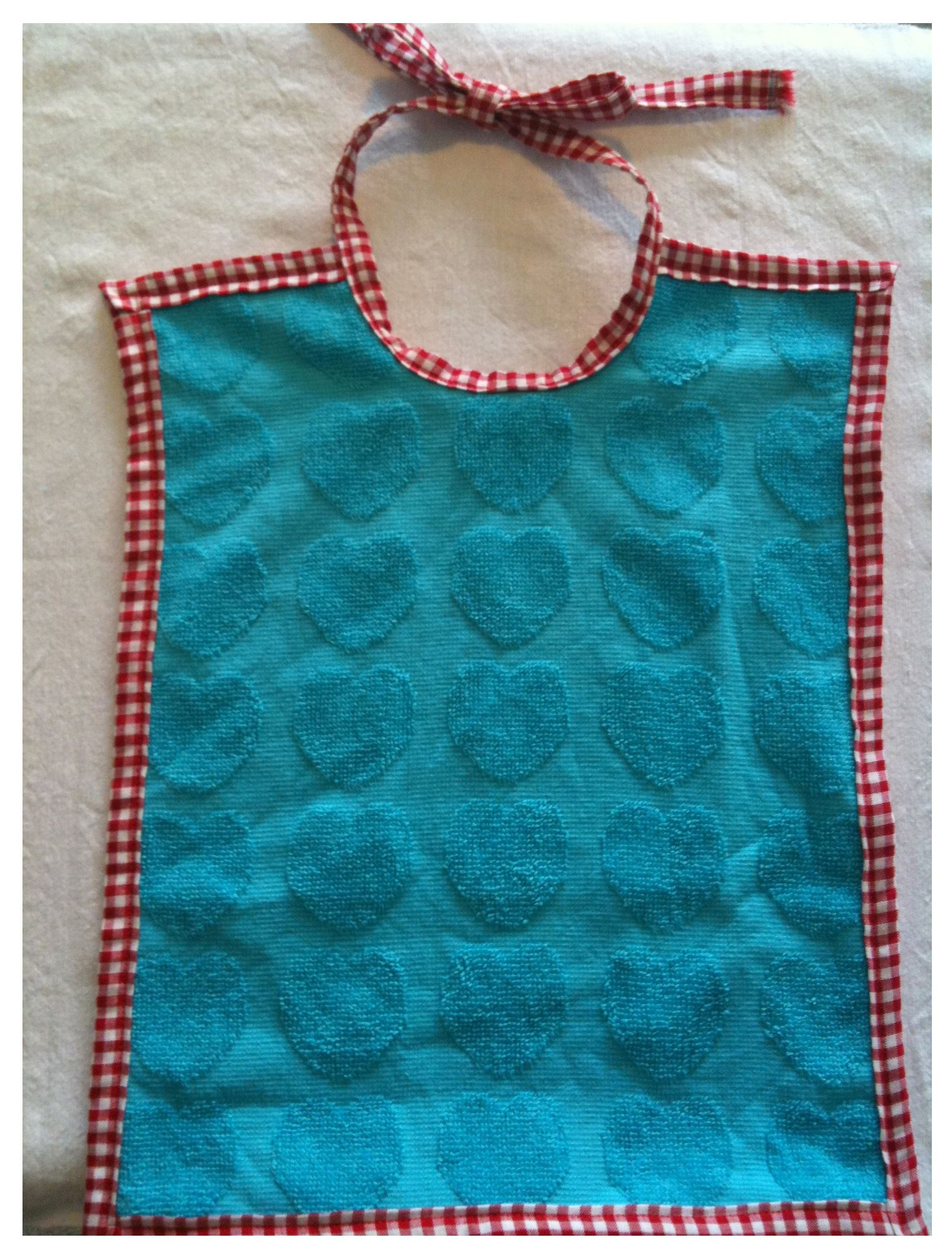 How To Make A Bib Out Of An Old Kitchen Towel Terry Cloth