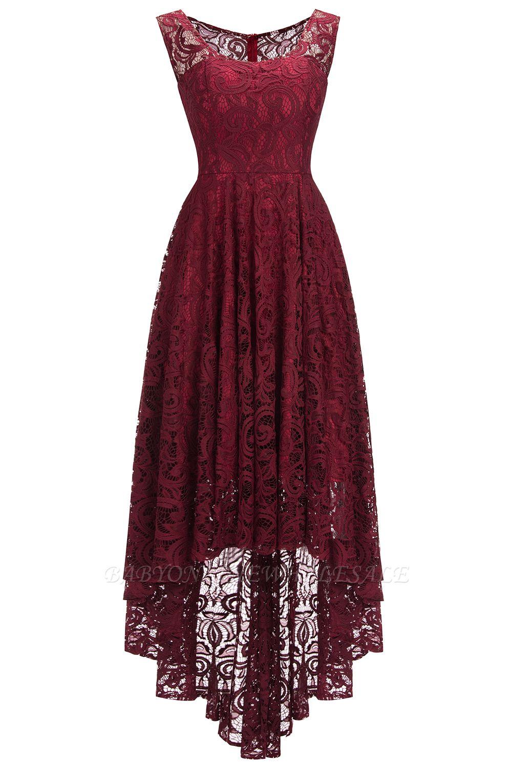 Schlichte Spitze Abendkleider Günstig  Schöne Kleider Vorne Kurz