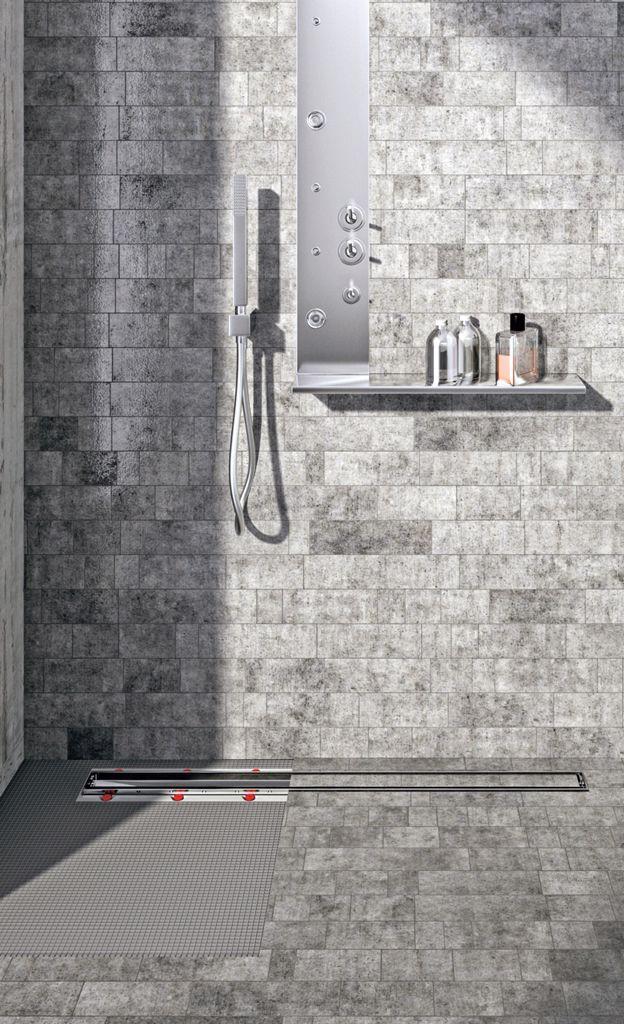 Dusche Ablaufrinne Baustelle, Bäder ideen und Baustoffe