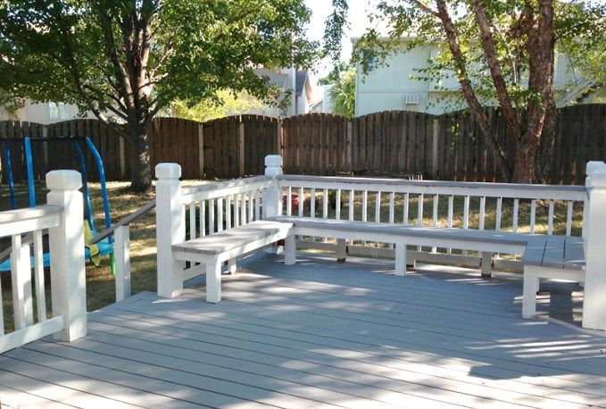 built-in deck seating