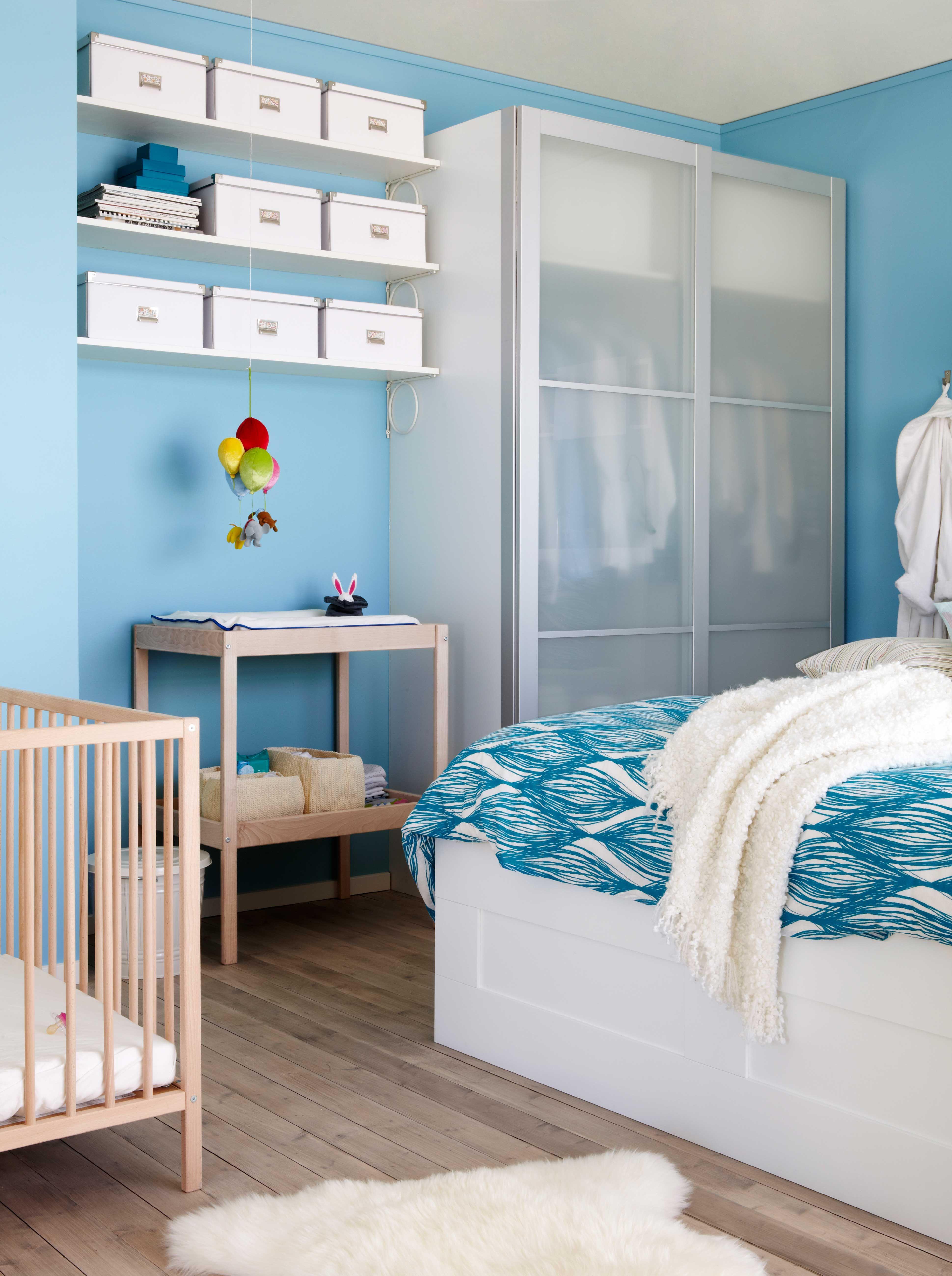 IKEA Österreich, Inspiration, Schlafzimmer, blau, Kleiderschrank PAX ...