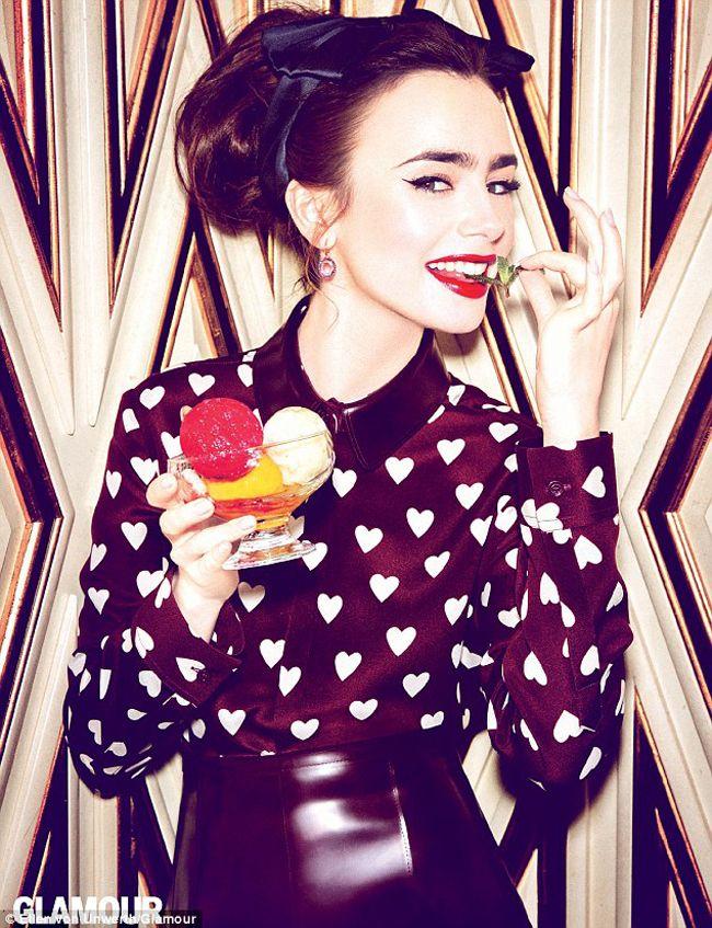 lily collins photoshoot italia - Buscar con Google | Alimento para ...