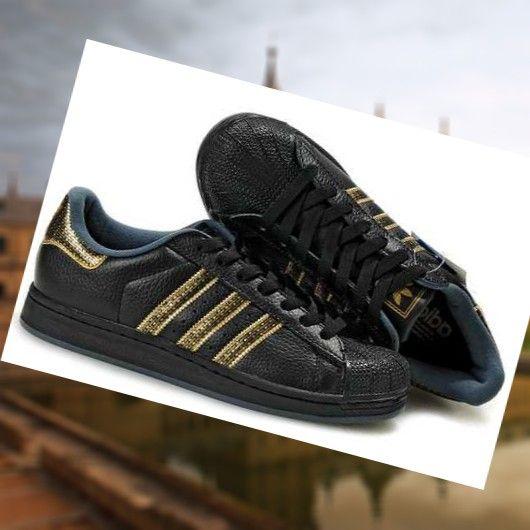 zapatillas hombres adidas originals superestar en negras