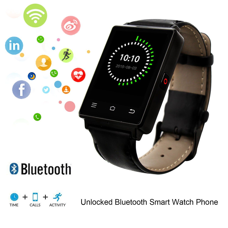 No.1 D6 Smart Watch Unlocked Cell Phone 3G WIFI Bluetooth