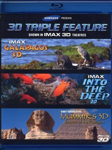 cool IMAX 3D Triple Feature: Galapagos, Into the Deep, Mummies: Secrets of the Pharaohs (Blu-ray 3D)