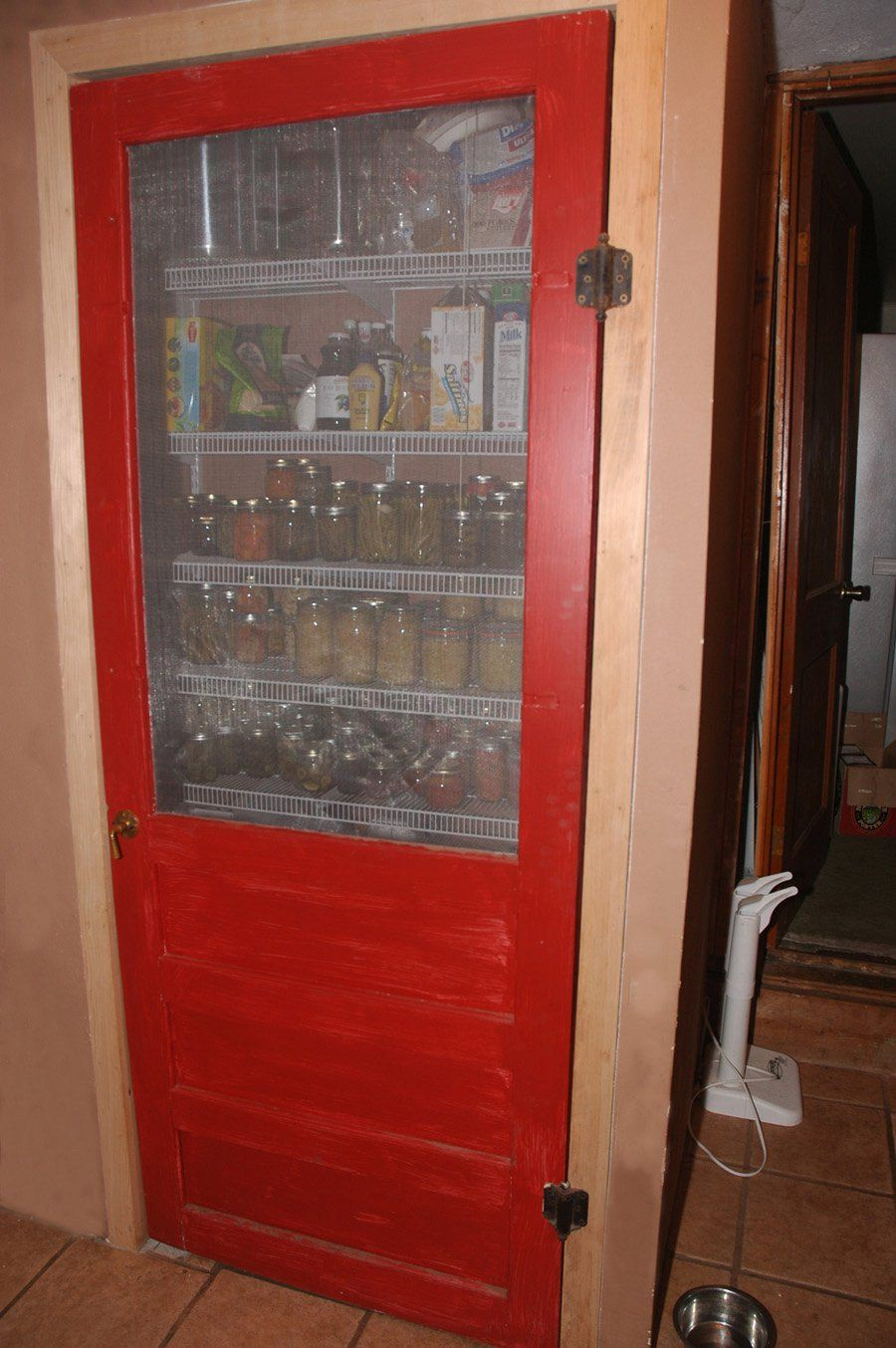 Old wood screen door, made into a pantry door. | Things I\'ve done ...