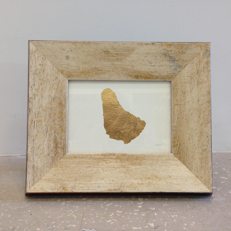 Gold Leaf Barbados By Ink & Hope Framed In A