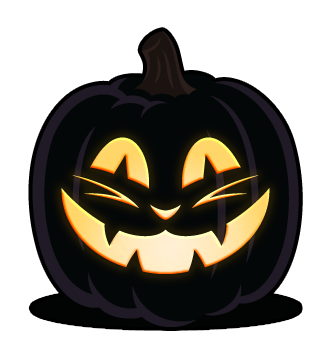 pumpkin template orange  Simple Faces   Orange and Black Pumpkins in 5   Cat ...