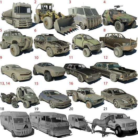 Choose your post-apocalyptic / Bug Out Vehicle ;°) https://www.facebook.com/pages/Motorhackz/944776252218155