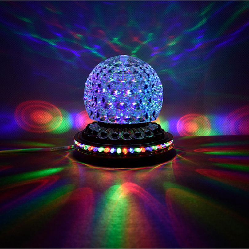 Party Lights Dj Disco Ball Lights Rgb Led Stage Lights Rotating Crystal Magic Ball Strobe Light For Xmas H Crystal Magic Ball Led Stage Lights Magic Ball Light