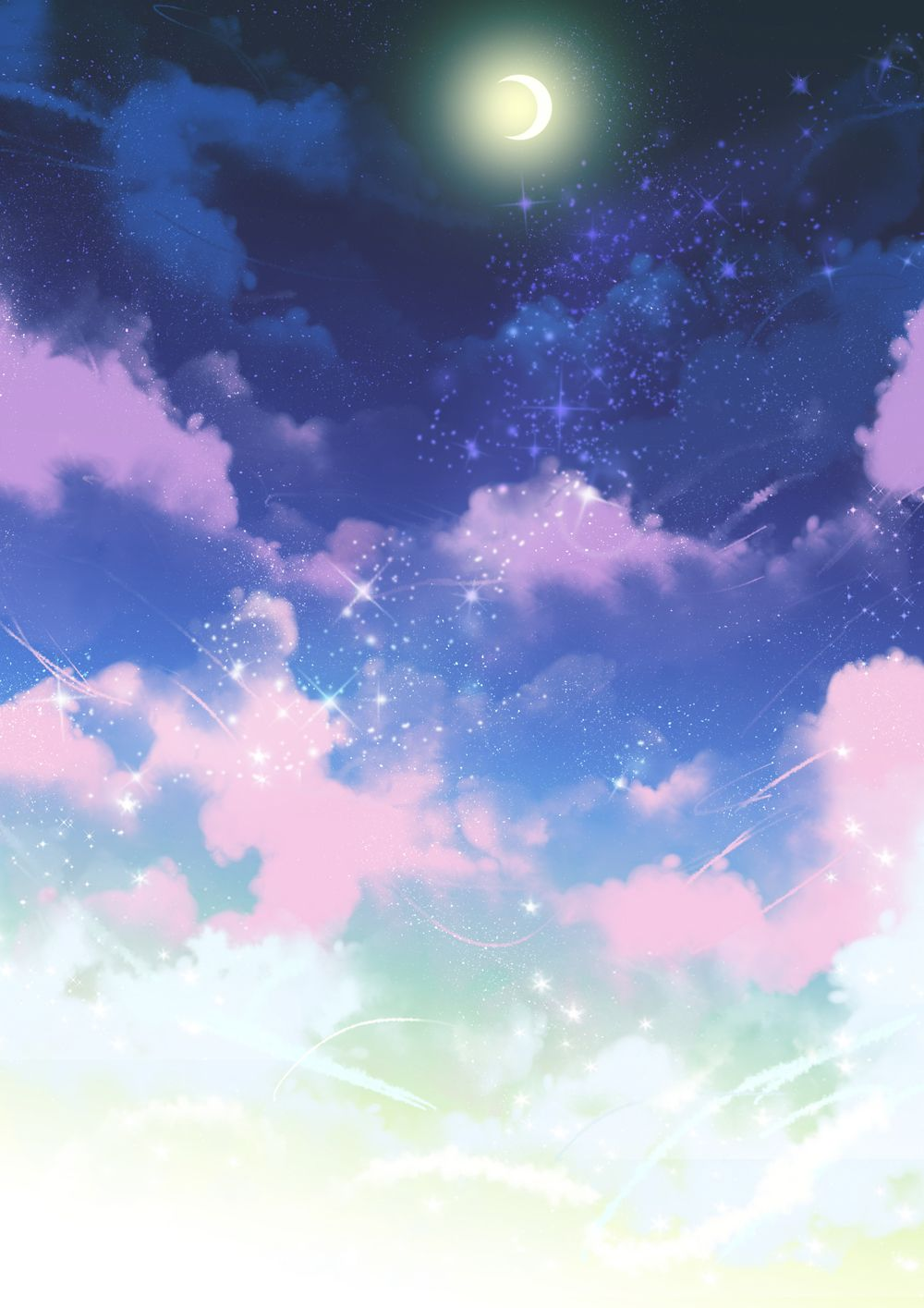 I draw what I like Clouds, Sky, Star sky