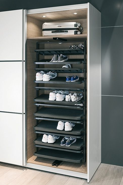 Could Fit In Cloakroom Wardrobe Shoe Rack Extending And Rotating For Tall Cab In 2020 Schuhregal Schrank Regal