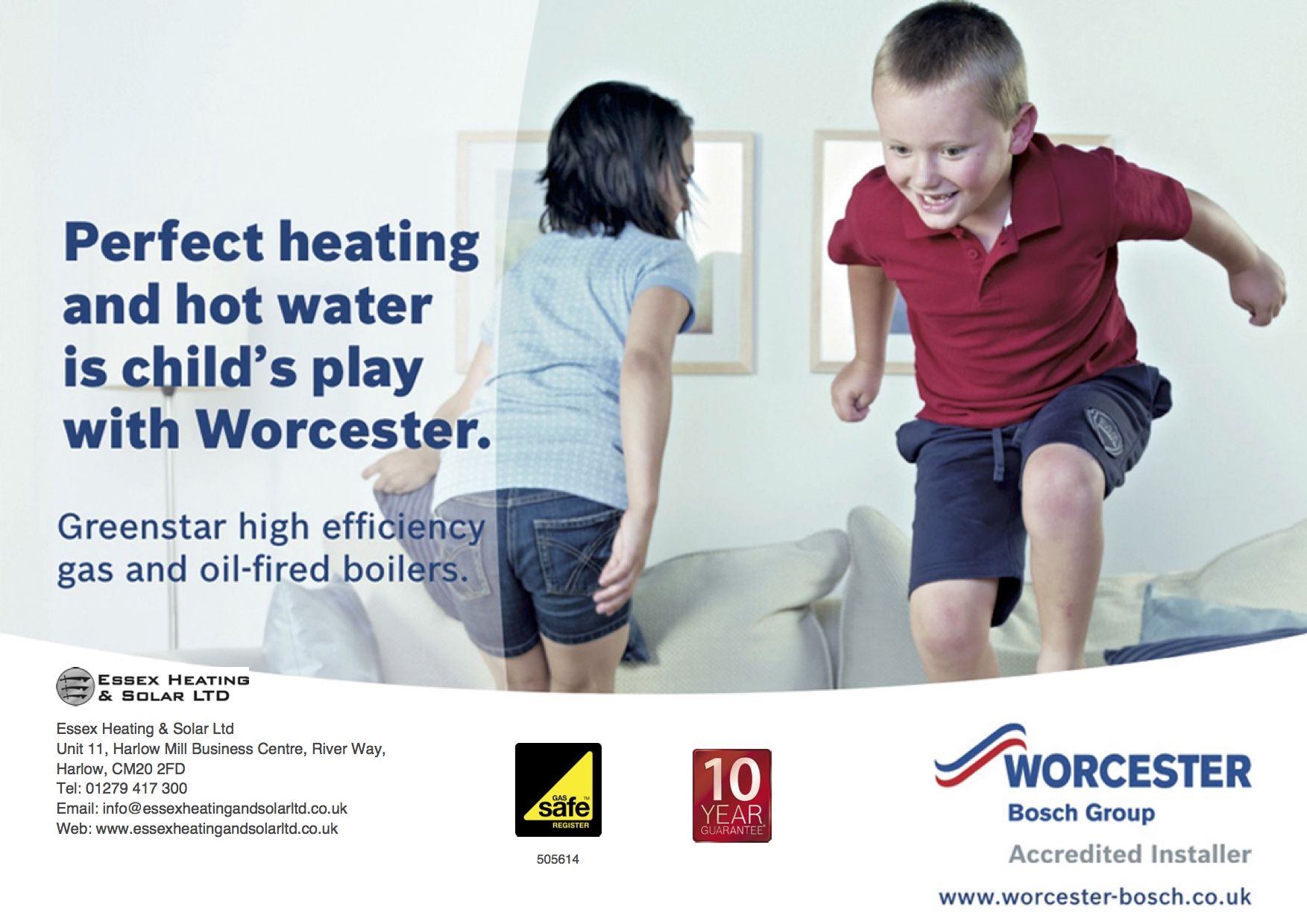 Worcester Bosch gas boilers are extremely efficient and as we are ...