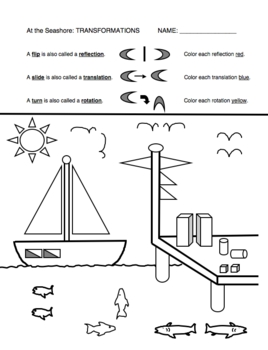 Geometry Math Picture Worksheets (Set of 2) Angles and
