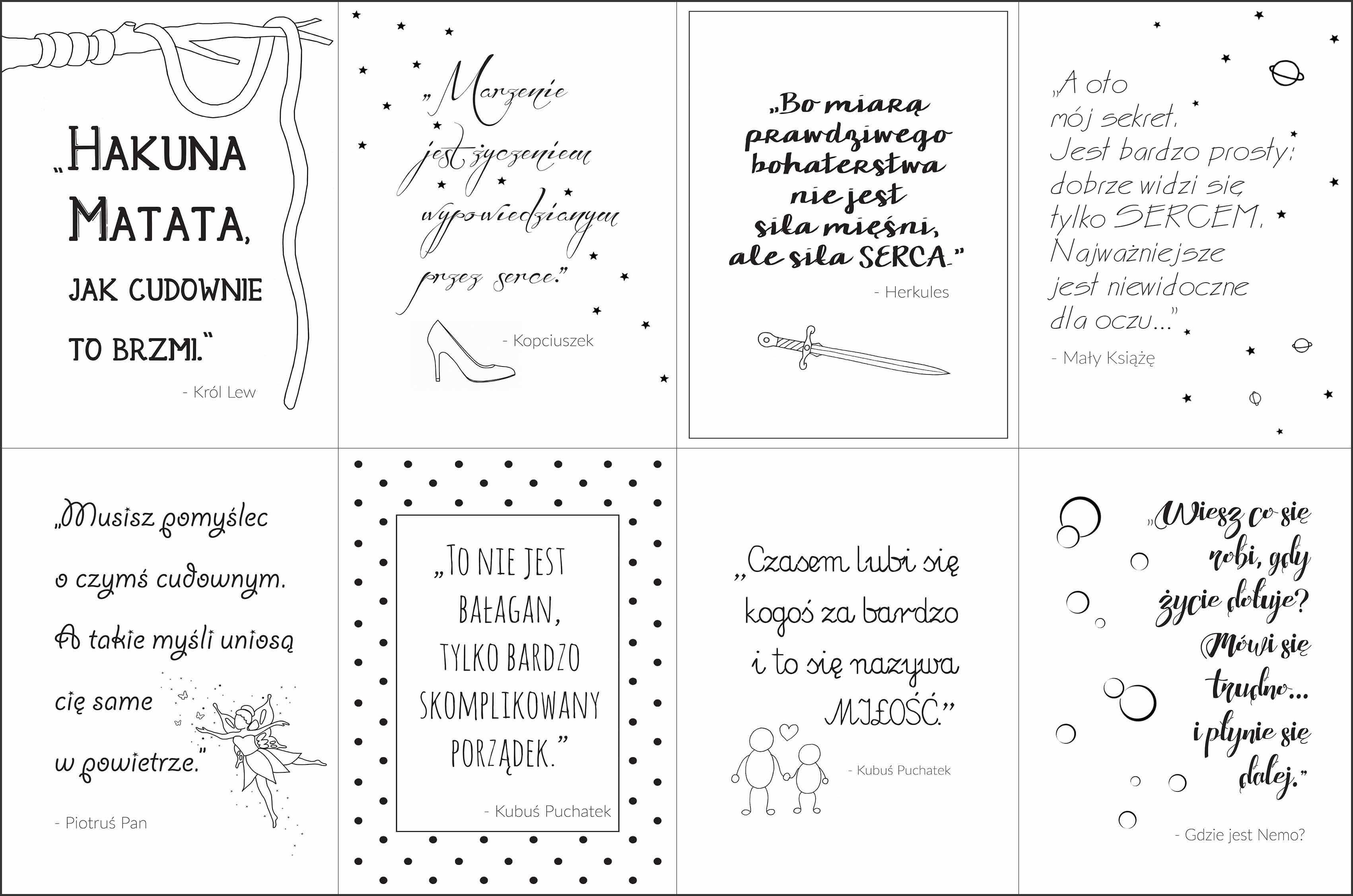 Plakaty Z Cytatami Z Bajek Do Druku Archistacja