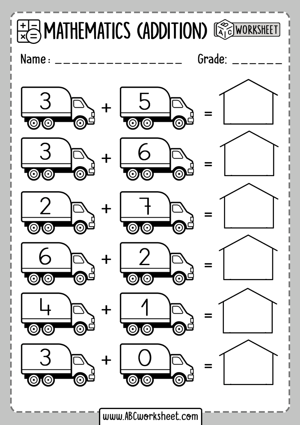 Free Addition Worksheets   Kindergarten math worksheets addition [ 1414 x 1000 Pixel ]